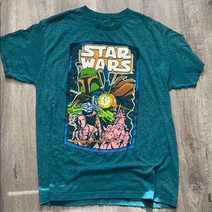 Star Wars tee men's large vintage